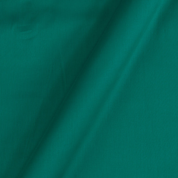 Cotton Satin Sea Green Colour 42 inches Width Dyed Fabric