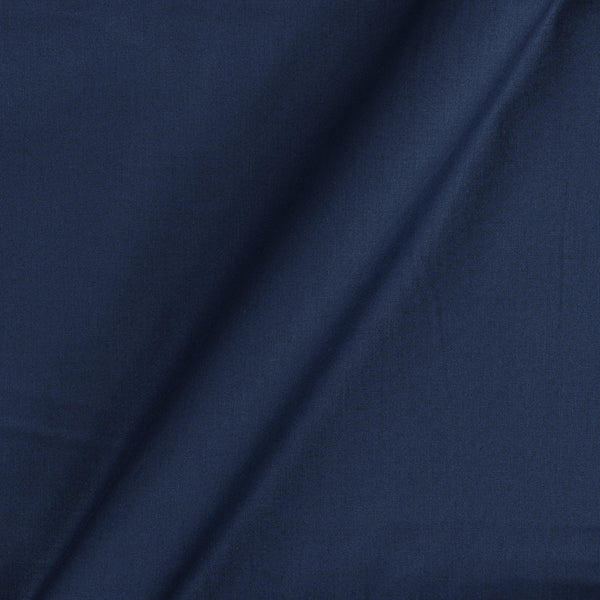 Cotton Satin Navy Blue Colour 42 inches Width Dyed Fabric