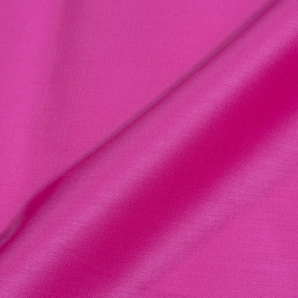 Candy Pink Colour Plain Dyed Cotton Satin Fabric  [Cotton Satin] 1.07 Meter [42 inches] Width