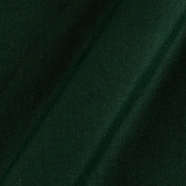 Bottle Green Colour 42 inches Width Dyed Flex Cotton Fabric [For Bottom Wear]