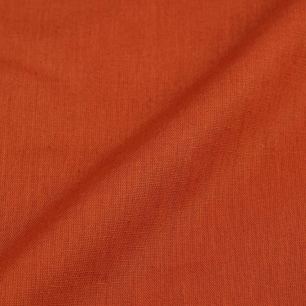 Saffron Orange Colour 42 inches Width Dyed Flex Cotton Fabric [For Bottom Wear]