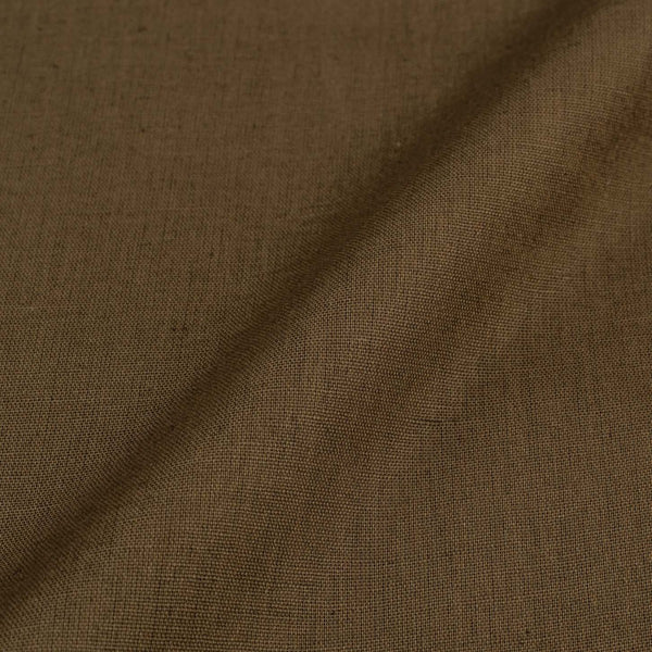 Ecru Colour 42 inches Width Dyed Flex Cotton Fabric [For Bottom Wear]