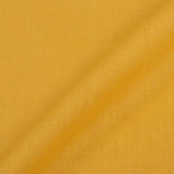 Bright Yellow Colour Dyed Flex Cotton Fabric [For Bottom Wear]