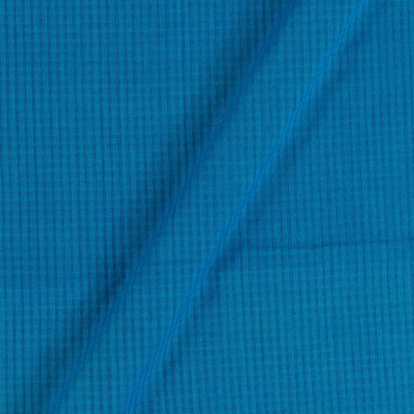South Cotton Ocean Blue Colour Striped & Check Washed 42 inches Width Fabric