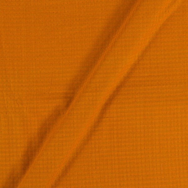 South Cotton Mustard Brown Colour Striped & Check Washed 42 inches Width Fabric