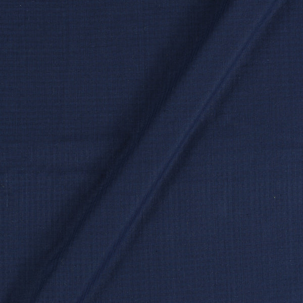 South Cotton Navy Blue Striped & Check Washed 42 inches Width Fabric