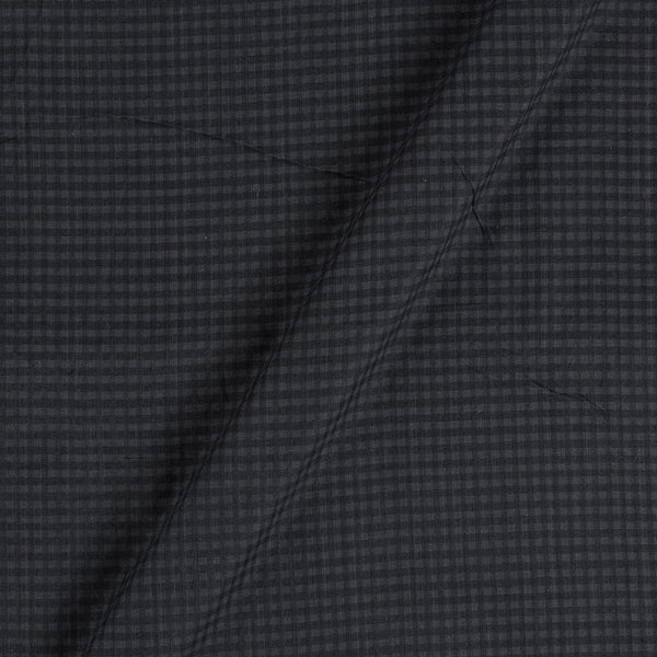 South Cotton Black Colour Striped & Check Washed 42 inches Width Fabric