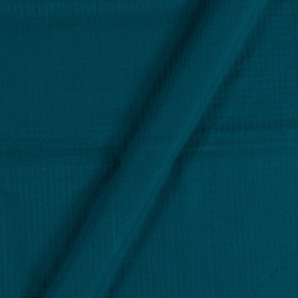 South Cotton Teal Colour Striped & Check Washed 42 inches Width Fabric