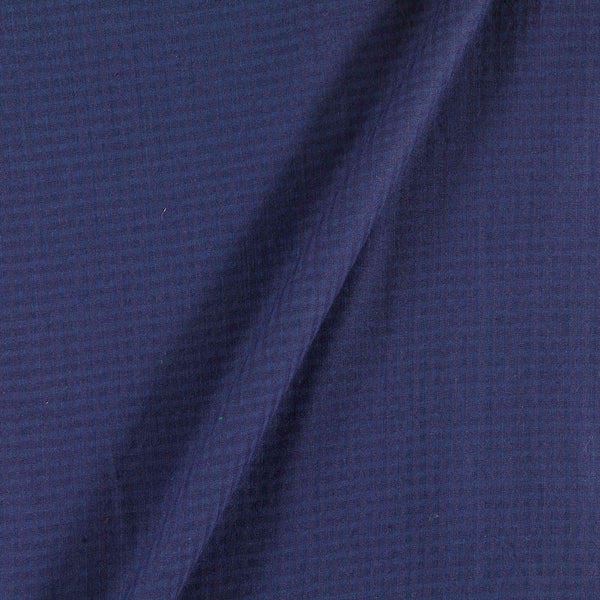 South Cotton Midnight Blue Colour 43 inches Width Striped & Check Washed Fabric
