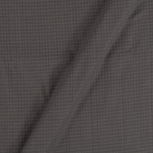 South Cotton Grey Colour 42 inches Width Striped & Check Washed Fabric