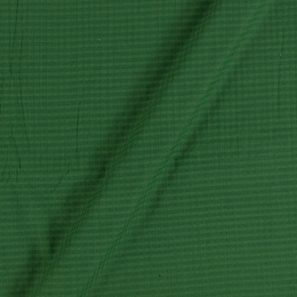 South Cotton Fern Green Colour Striped & Check Washed 42 inches Width Fabric