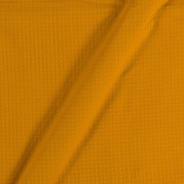 South Cotton Mustard Colour Striped & Check Washed 42 inches Width Fabric