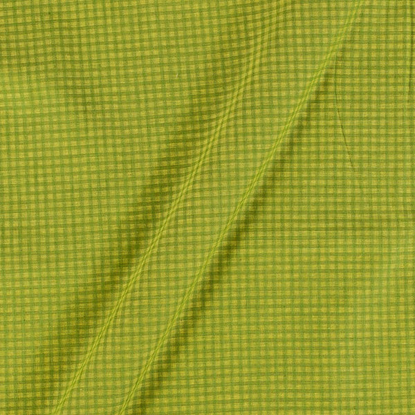 South Cotton Pale Green Colour Striped & Check Washed 42 inches Width Fabric