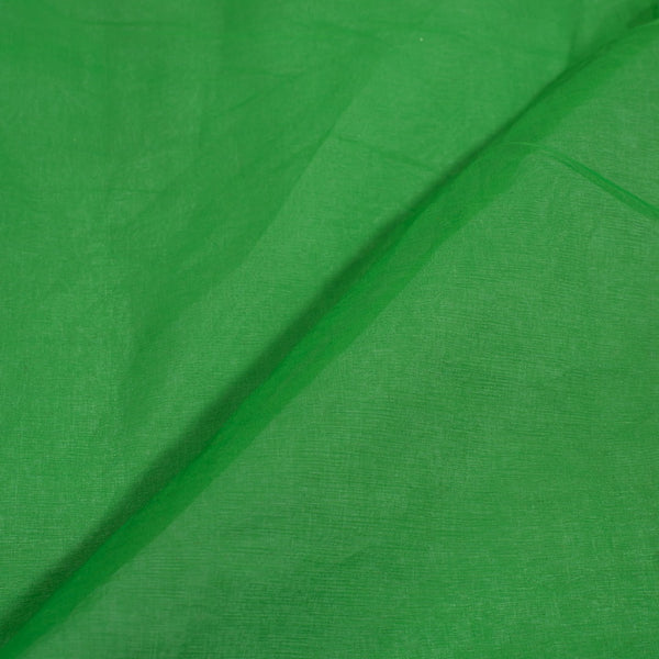 Resham Organza Green Colour Semi Nylon Fabric