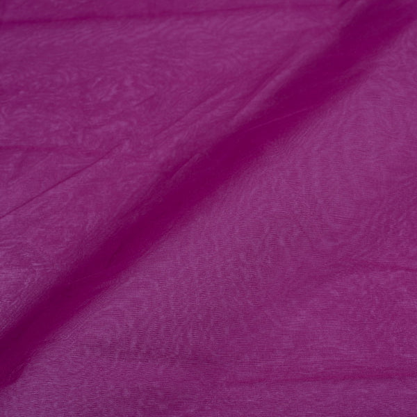 Resham Organza Lavender Colour Semi Nylon Fabric