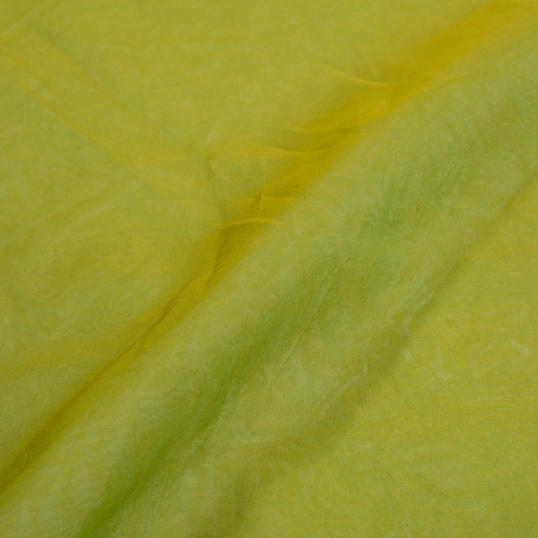 Resham Organza Mehndi Green Colour Semi Nylon Fabric