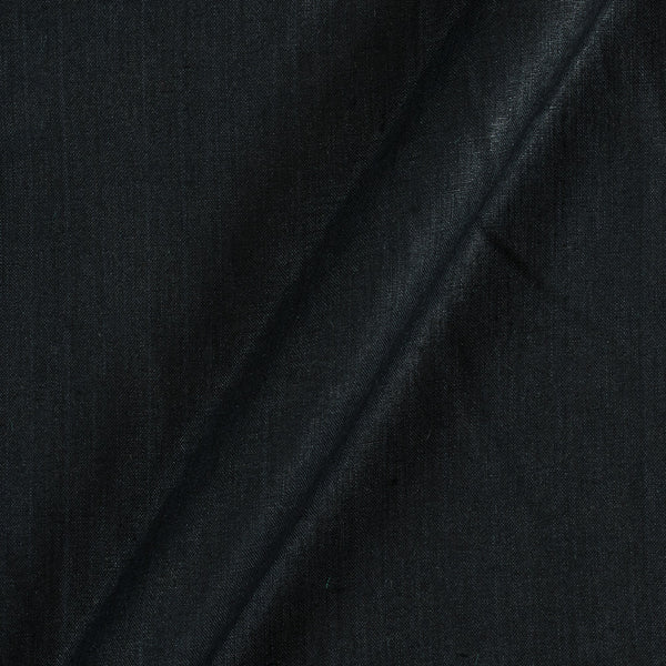 Linen x Linen Black Colour Handloom Fabric