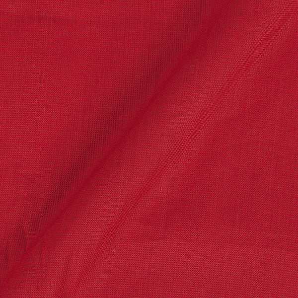 Cotton Matty Bright Red Colour Dyed 43 Inches Width Fabricches Width Fabric