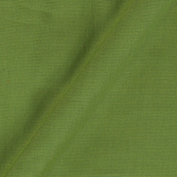 Cotton Matty Grass Green Colour Dyed 43 Inches Width Fabric