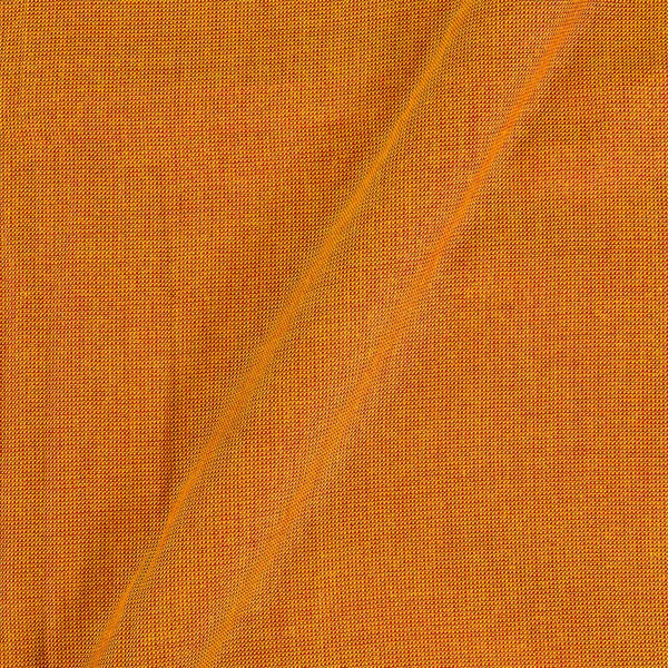 Matty Cotton  Mustard Red Colour Dyed Fabric