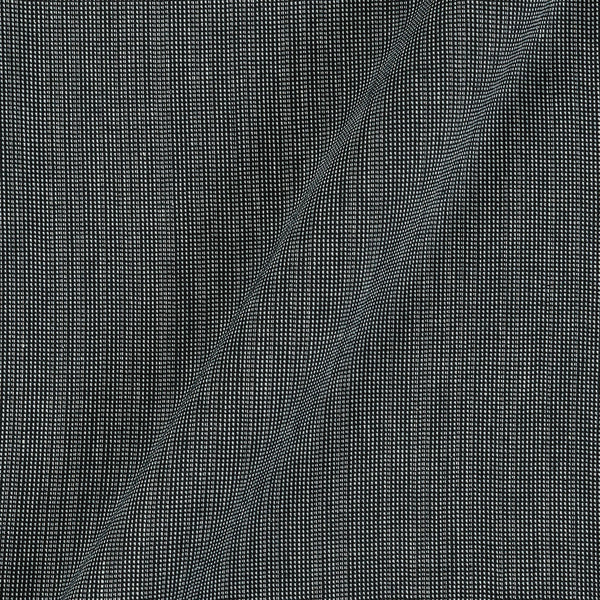 Matty Cotton Grey Black Colour Dyed Fabric