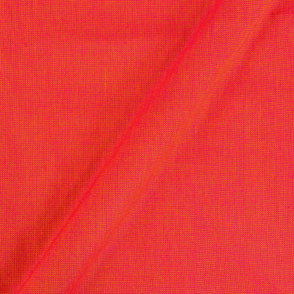 Matty Cotton Orange To Pink Two Tone Dyed Fabric