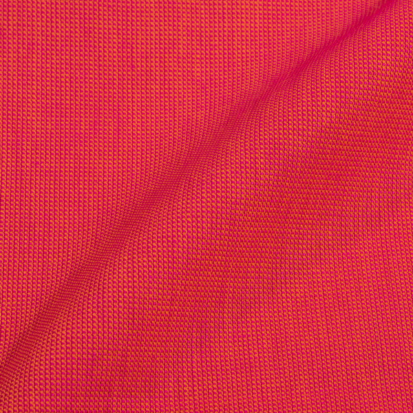 Orange To Pink Two Tone Dyed Matty Cotton Fabric