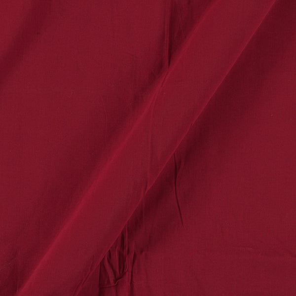 Two X Two 100% Rubia Cotton Maroon Red Colour 36 inches Width Fabric