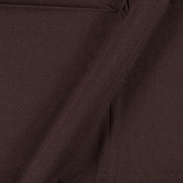 Two X Two 100% Rubia Cotton Coffee Brown Colour 36 inches Width Fabric