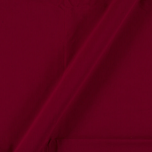 Two X Two 100% Rubia Cotton Maroon Red Colour Fabric 0.91 Meter [36 inches] Width