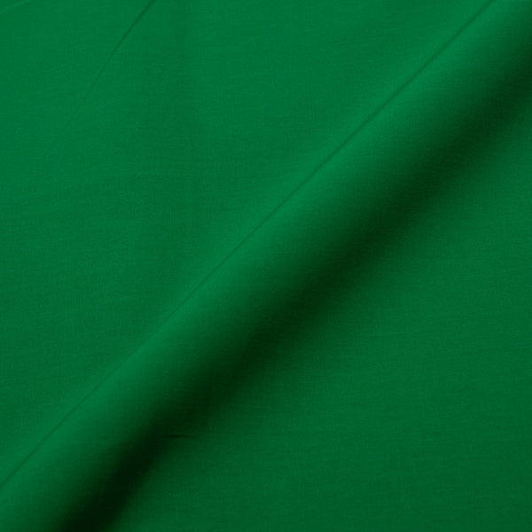 Shamroak Green Two X Two 100% Rubia Cotton Fabric