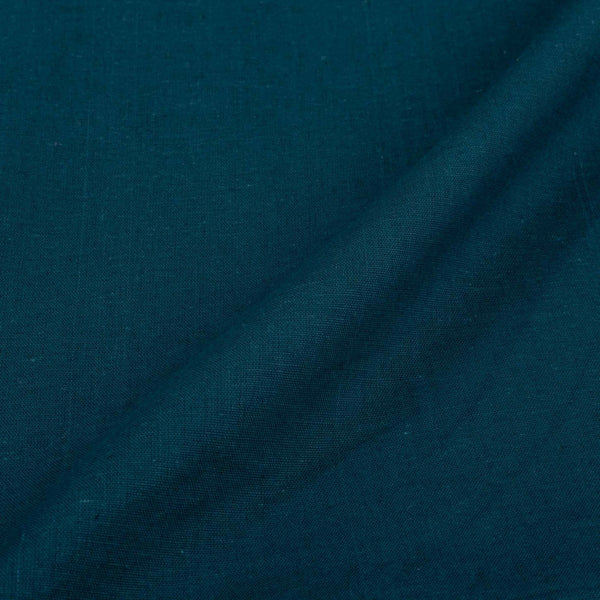 Teal Colour Dyed Flex [Cotton Linen] Fabric