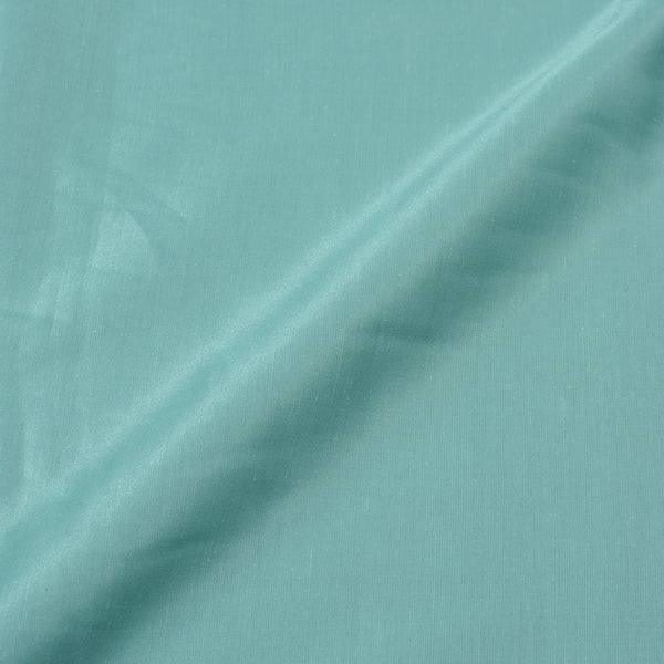 Pastel Turquoise Colour Poly Linen Satin Type Polyester Fabric