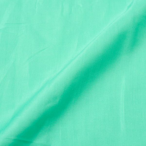 Aqua Colour Poly Linen Satin Type Polyester Fabric