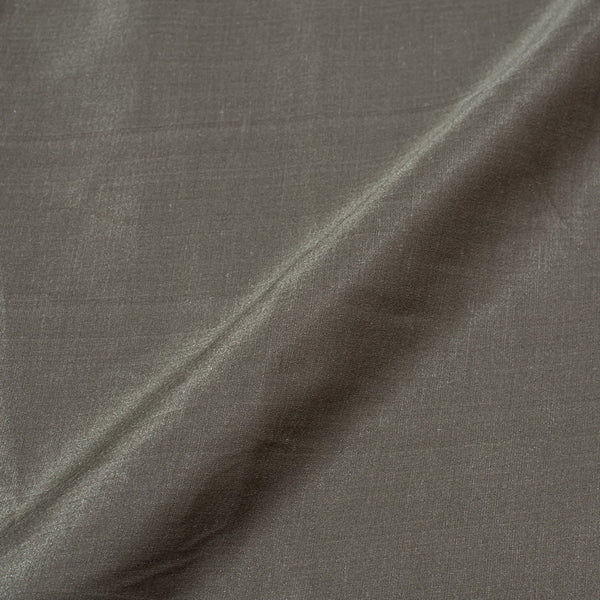 Carbon Colour Poly Linen Satin Fabric