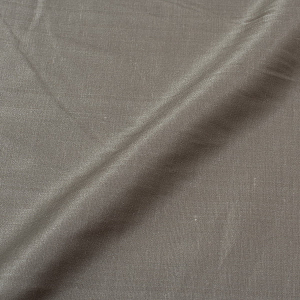 Dark Silver Colour Poly Linen Satin Fabric