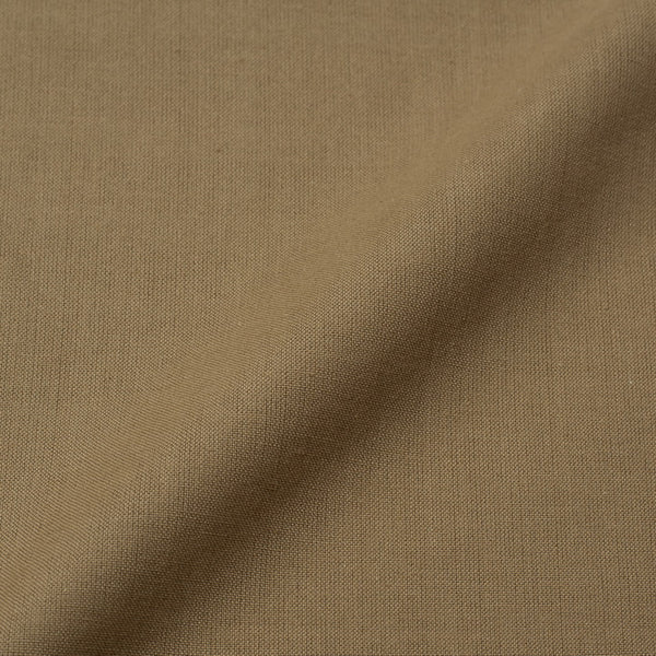 Nut Brown Colour Hand Processed Pochampally Plain Ikat Cotton Fabric