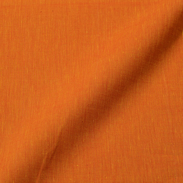 Golden Orange Colour Plain Dyed Pick & Pick South Cotton Fabric