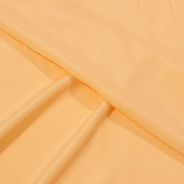 Cream Yellow Colour Plain Poly French Crepe Fabric