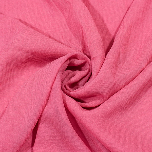 Carrot Pink Colour Dyed Viscose Georgette Fabric