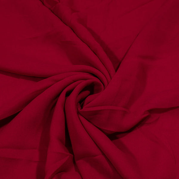 Rio Red Colour Dyed Viscose Georgette Fabric