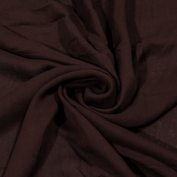 Coffee Colour Dyed Viscose Georgette Fabric