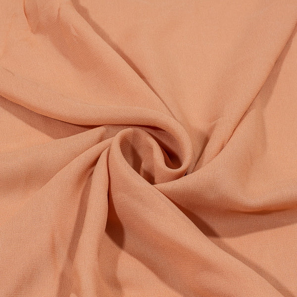 Peach Colour Dyed Viscose Georgette Fabric