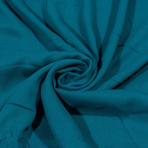 Ocean Blue Colour Dyed Viscose Georgette Fabric
