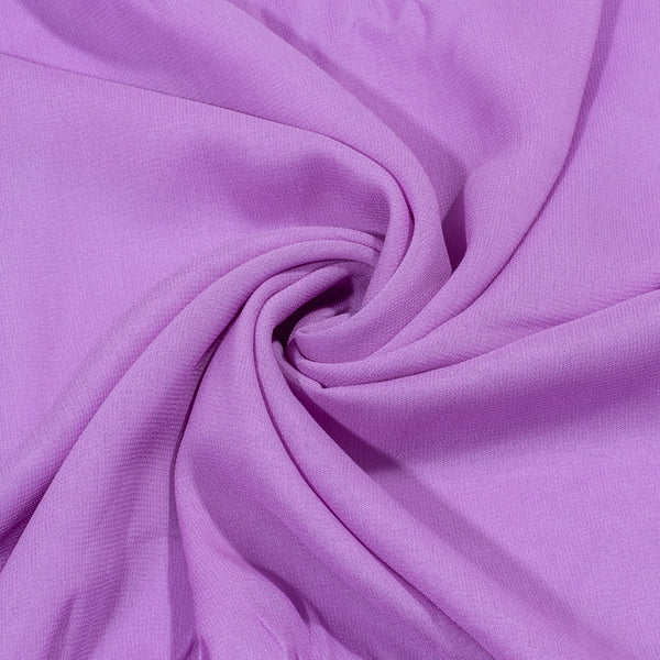 Purple Colour Dyed Viscose Georgette Fabric