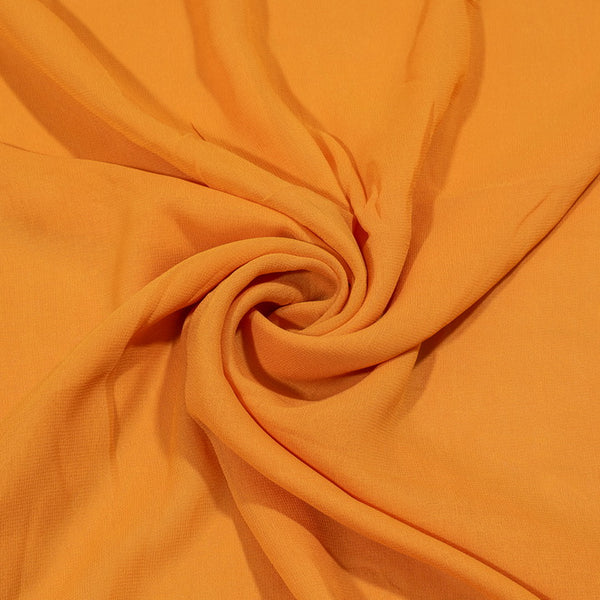 Fanta Orange Colour Dyed Viscose Georgette Fabric