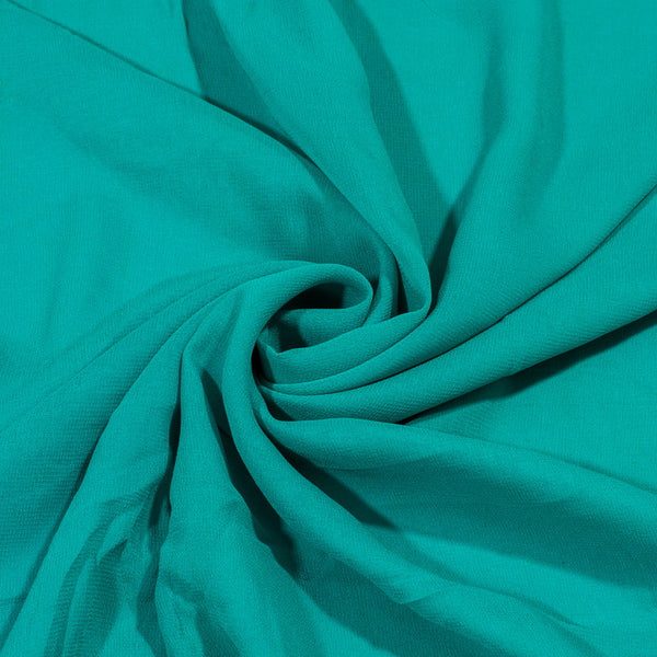 Sea Green Colour Dyed Viscose Georgette Fabric