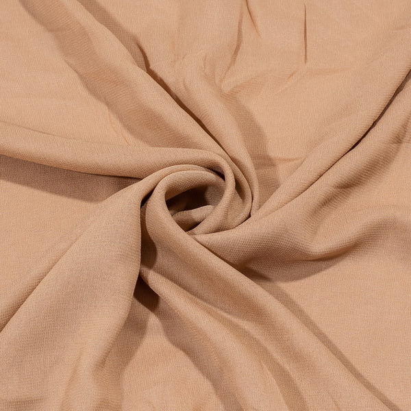 Beige Colour Dyed Viscose Georgette Fabric