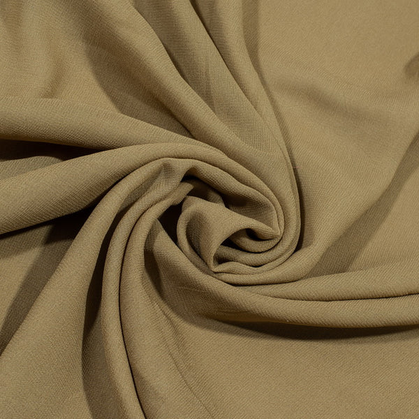 Beige Brown Colour Dyed Viscose Georgette Fabric