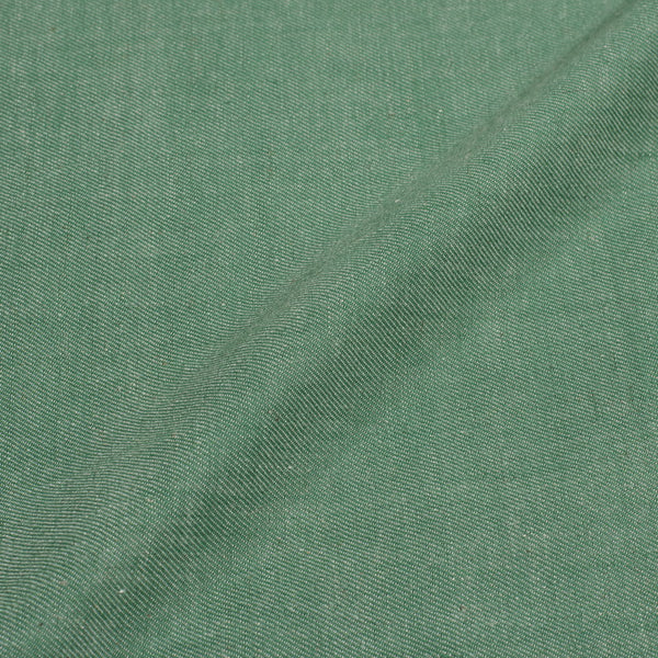 Shale  Green Colour Denim Feel Twill Cotton Fabric